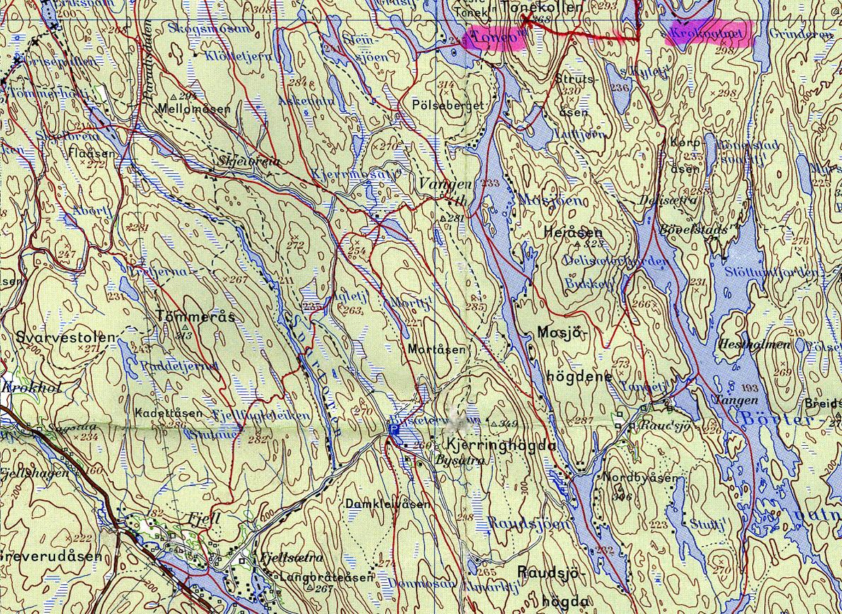 kart østmarka bilde_22 Kart over Vangen kart østmarka